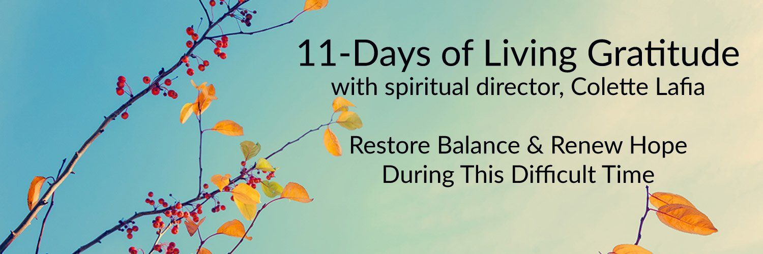 11-Days of Living Gratitude - Self Paced - November 2020
