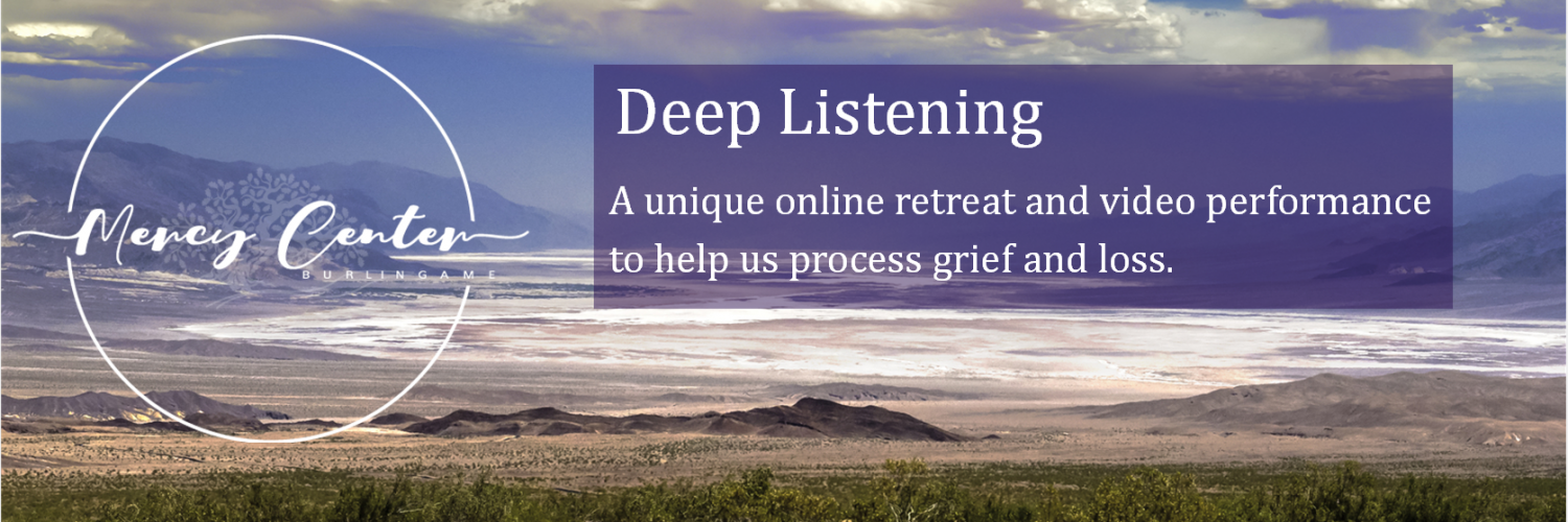 Deep Listening over image of Death Valley